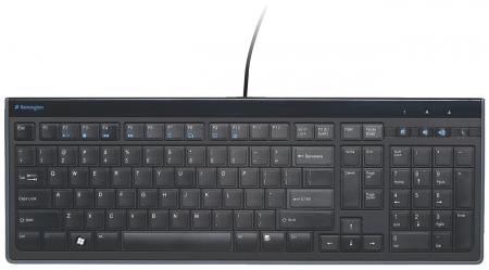 Tastatura Kensington AdvanceFit, cu fir, taste slim, negru1
