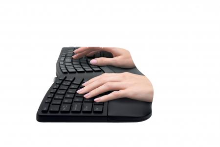 Tastatura Kensington ProFit Ergo, suport incheietura mainii, wireless, negru3