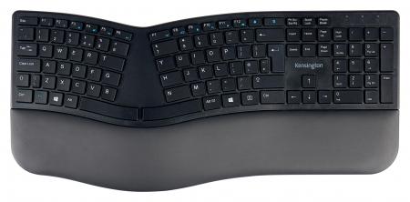 Tastatura Kensington ProFit Ergo, suport incheietura mainii, wireless, negru0
