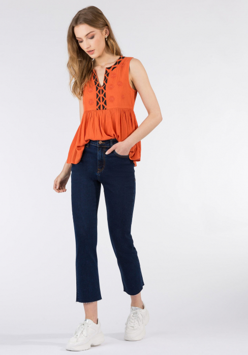 PACK 10 TIFFOSI Jeans women Amy 19 Straight Fit Cintura Alta 1