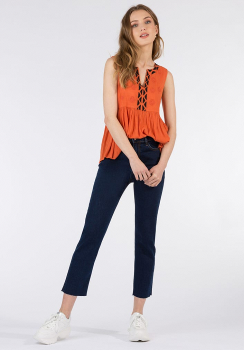 PACK 10 TIFFOSI Jeans women Amy 19 Straight Fit Cintura Alta 3