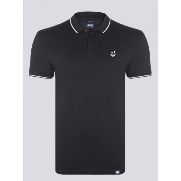PACK 10 ARMANI JEANS Polo Shirt-Black 0