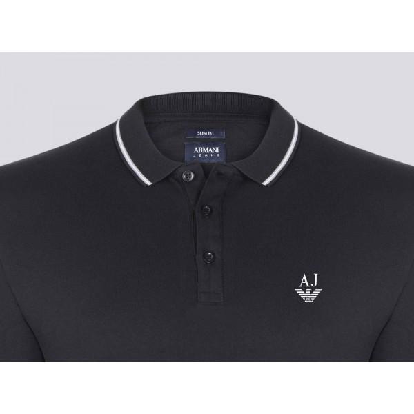 PACK 10 ARMANI JEANS Polo Shirt-Black 1