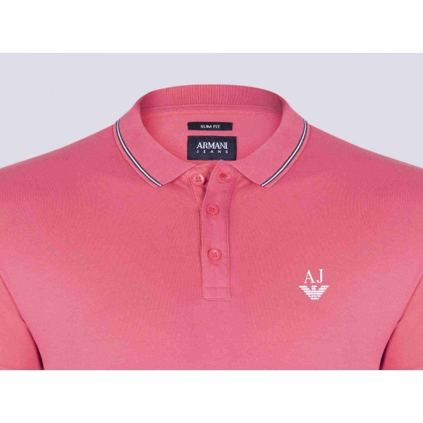 PACK 10 ARMANI JEANS Polo Shirt-Fuchsia slim fit 1