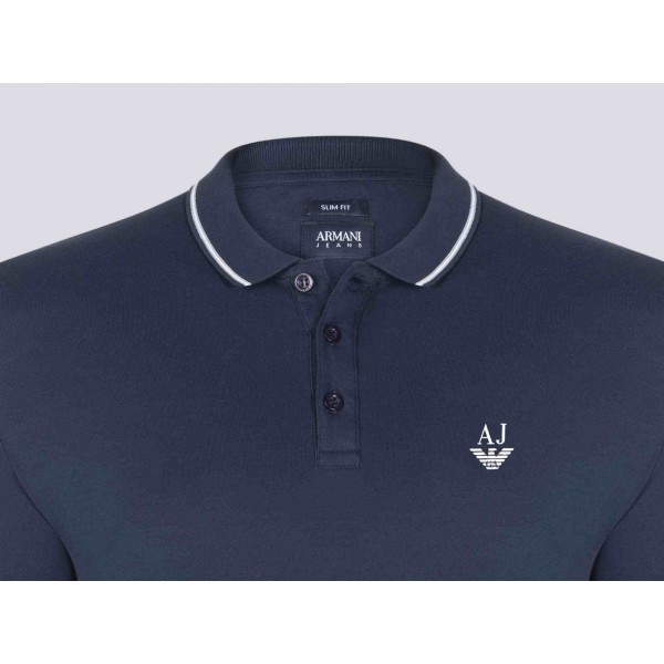 PACK 10 ARMANI JEANS Polo Shirt-Navy slim fit 1