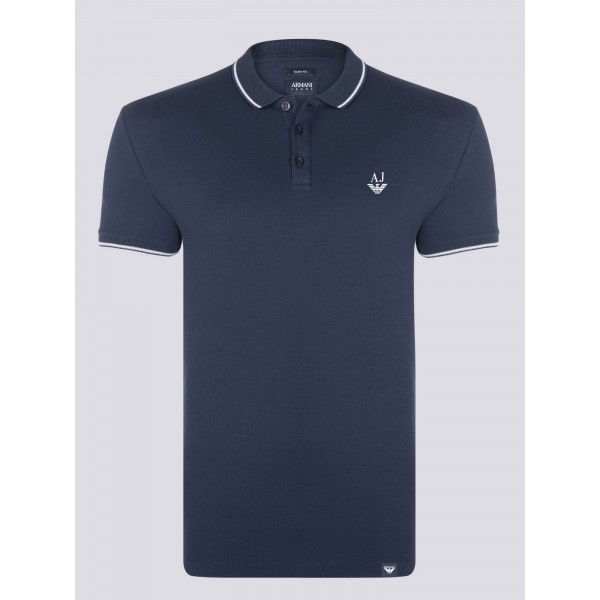 PACK 10 ARMANI JEANS Polo Shirt-Navy slim fit 0