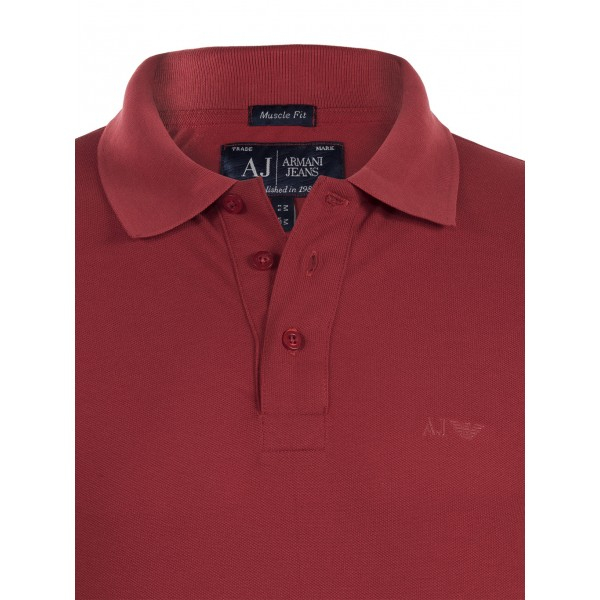 PACK 10 ARMANI JEANS Classic Polo Shirt Red-Muscle fit 1