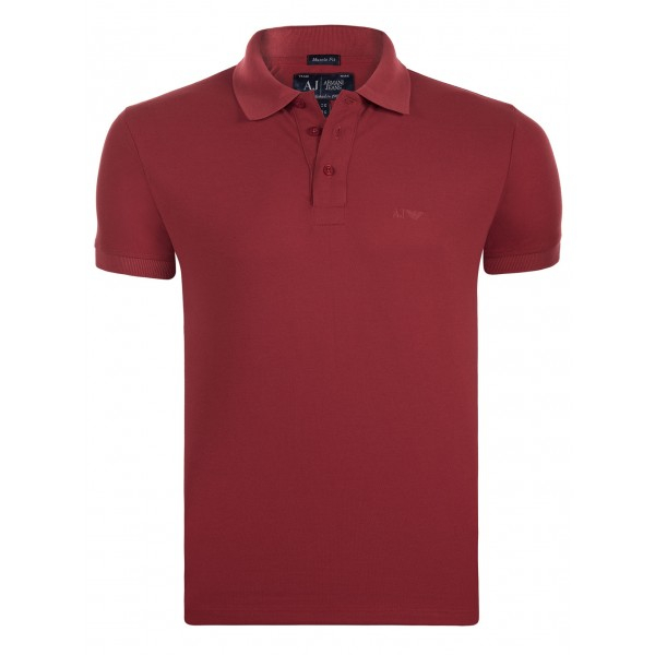 PACK 10 ARMANI JEANS Classic Polo Shirt Red-Muscle fit 0
