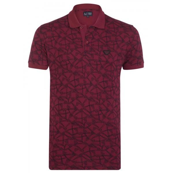 PACK 10 ARMANI JEANS Polo Shirt cu model - dark purple 0