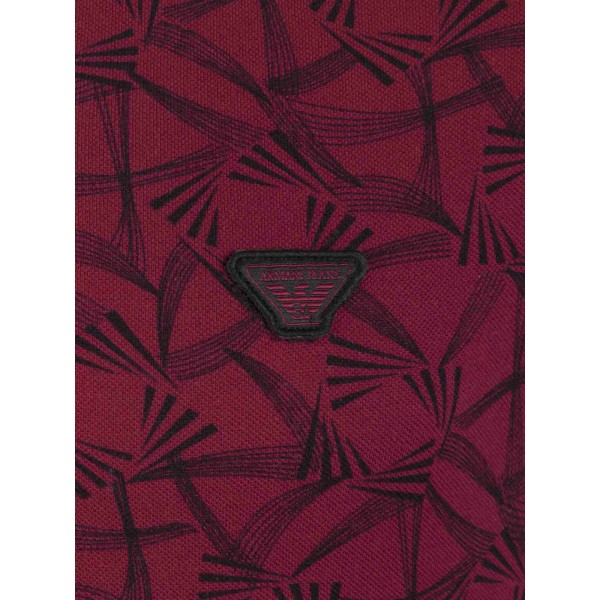 PACK 10 ARMANI JEANS Polo Shirt cu model - dark purple 2