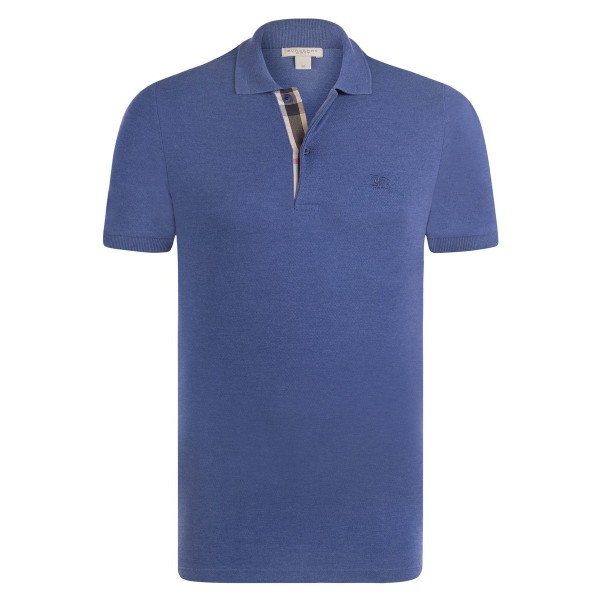 PACK 10 BURBERRY Hartford Polo Shirt in Bright Steel Blue 0