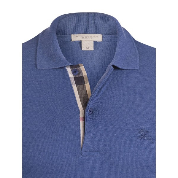 PACK 10 BURBERRY Hartford Polo Shirt in Bright Steel Blue 1