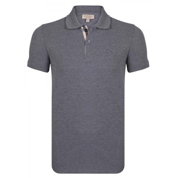 PACK 10 BURBERRY Hartford Polo Shirt in Dark Charcoal Melange 0