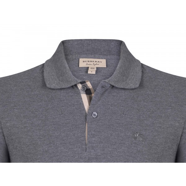 PACK 10 BURBERRY Hartford Polo Shirt in Dark Charcoal Melange 1