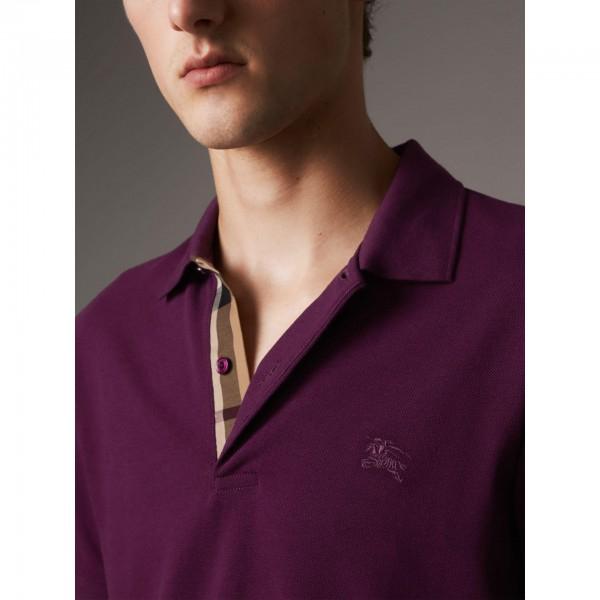 PACK 10 BURBERRY Hartford Polo Shirt in Dark Royal Purple 1