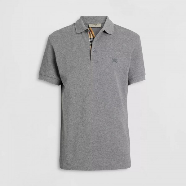 PACK 10 BURBERRY Hartford Polo Shirt in Mid Grey Melange 0
