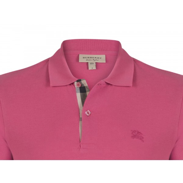 PACK 10 BURBERRY Hartford Polo Shirt in Raspberry Sorbet 1
