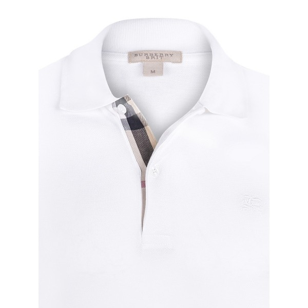 PACK 10 BURBERRY Hartford Polo Shirt in White 1