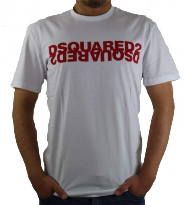 PACK 10 Dsquared2 Men's T-Shirts M2 White/Red 0