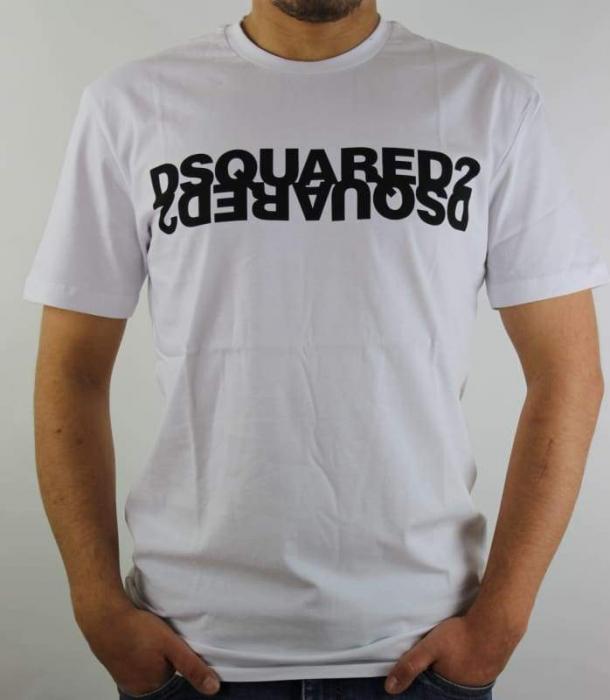 PACK 10 Dsquared2 Men's T-Shirts M2 White/Schwarz 0