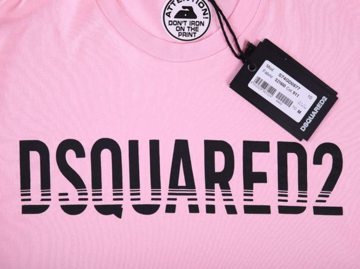 PACK 10 Dsquared2 Men's T-Shirts Pink 1