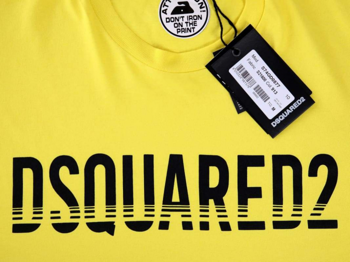PACK 10 Dsquared2 Men's T-Shirts Yellow 1