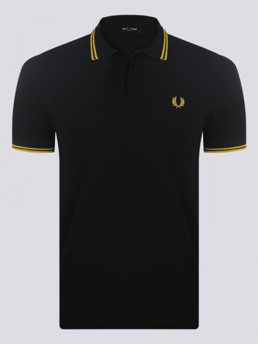 PACK 7 Fred Perry Men's Polo Black/Yellow 0