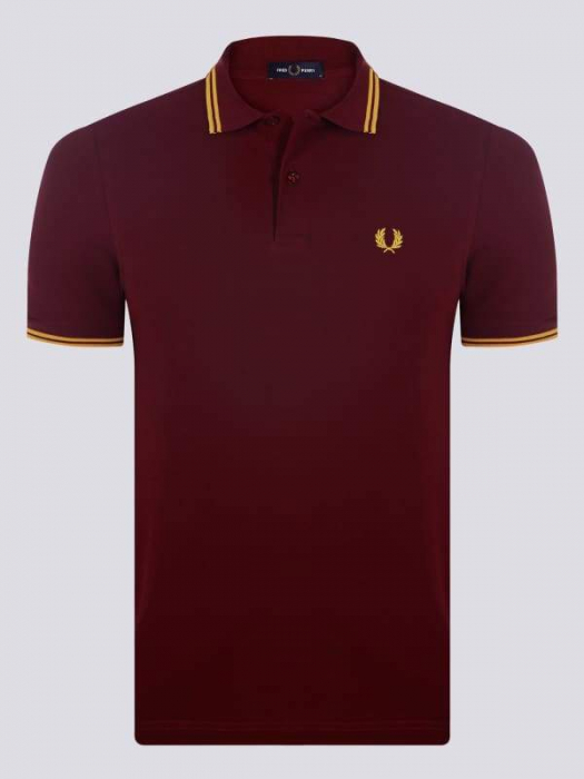 PACK 7 Fred Perry Men's Polo Bordeaux/Yellow 0