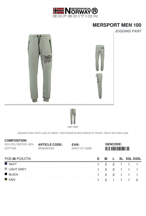 PACK 30 GEOGRAPHICAL NORWAY  PANTALONI ASORTATI 3