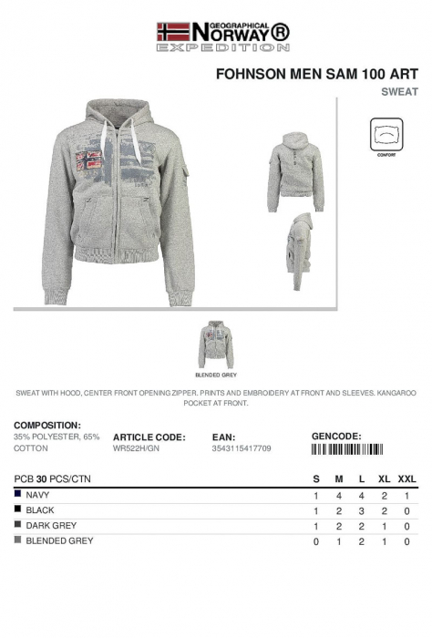 PACK 30 GEOGRAPHICAL NORWAY  HANORACE  ASORTATE 1