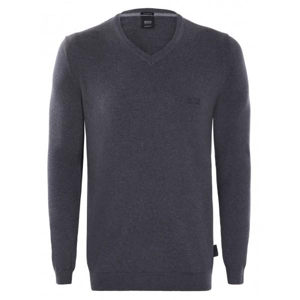 PACK 10 Hugo Boss BLACK LABEL V-Neck Sweater Antracite 0