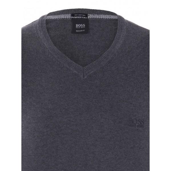 PACK 10 Hugo Boss BLACK LABEL V-Neck Sweater Antracite 1
