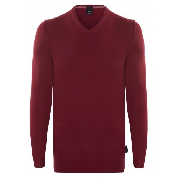 PACK 10 Hugo Boss BLACK LABEL V-Neck Sweater - Bordeaux 0