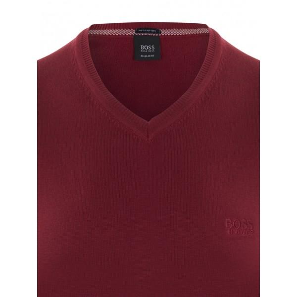 PACK 10 Hugo Boss BLACK LABEL V-Neck Sweater - Bordeaux 1