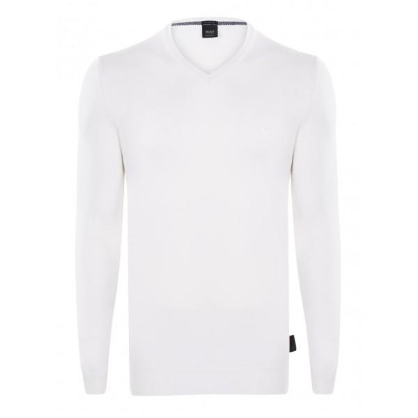 PACK 10 Hugo Boss BLACK LABEL V-Neck Sweater White 0