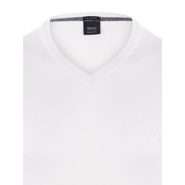PACK 10 Hugo Boss BLACK LABEL V-Neck Sweater White 1