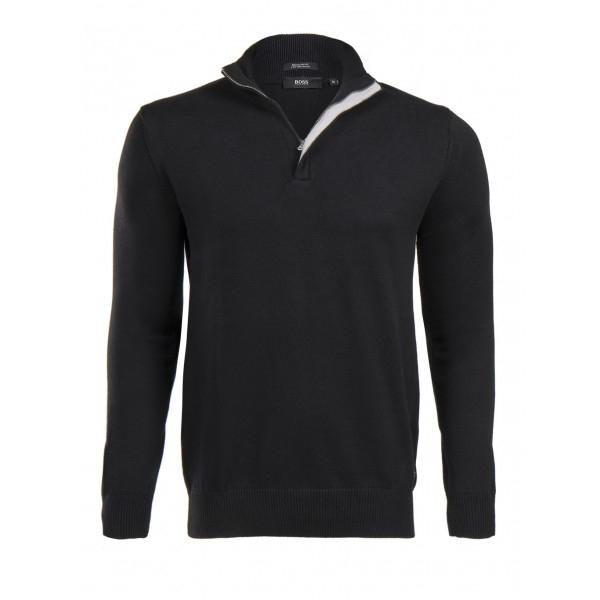 PACK 5 HUGO BOSS BLACK LABEL zip front jumper – Black 0