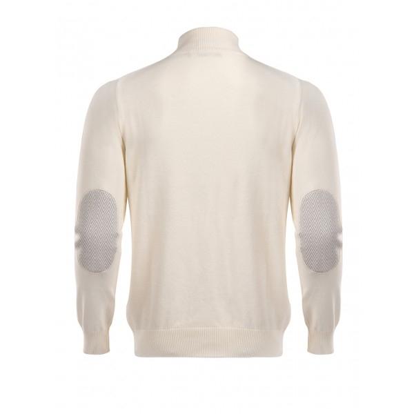 PACK 5 HUGO BOSS BLACK LABEL zip front jumper – Ecru 1