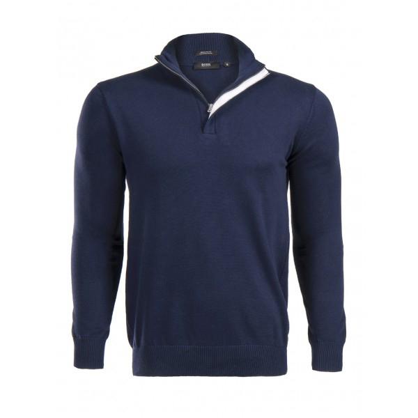PACK 5 HUGO BOSS BLACK LABEL zip front jumper – Navy 0