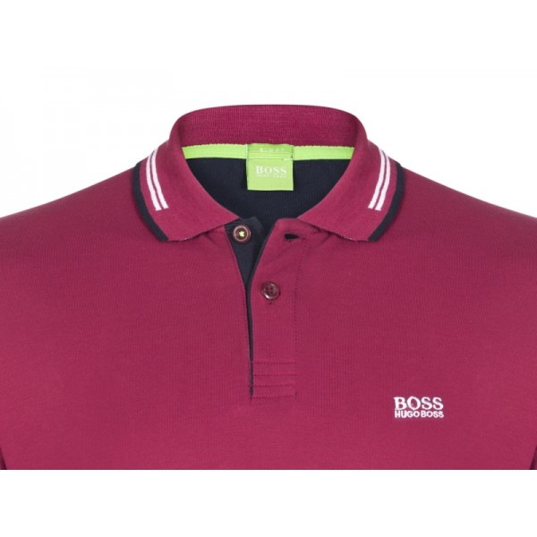 PACK 10 HUGO BOSS GREEN Label Poloshirt Paddy - Bordeaux 1