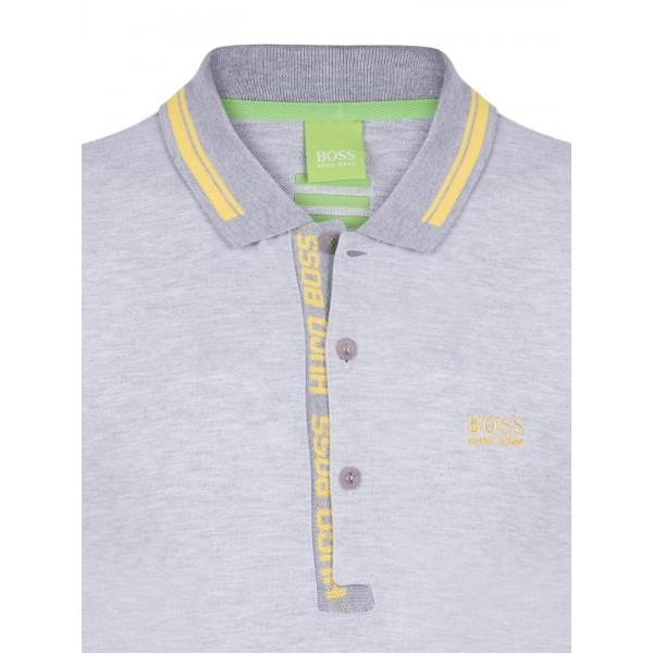 PACK 10 HUGO BOSS GREEN Label Poloshirt Paddy - Gray/Yellow 0