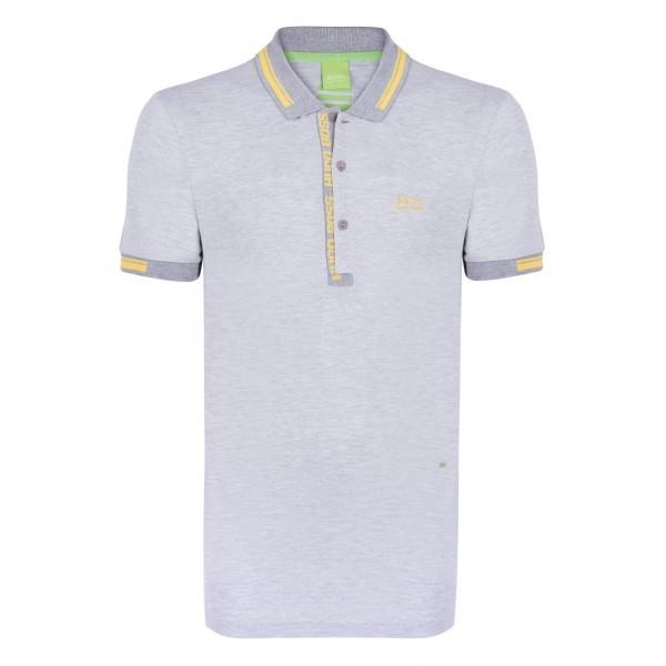 PACK 10 HUGO BOSS GREEN Label Poloshirt Paddy - Gray/Yellow 1