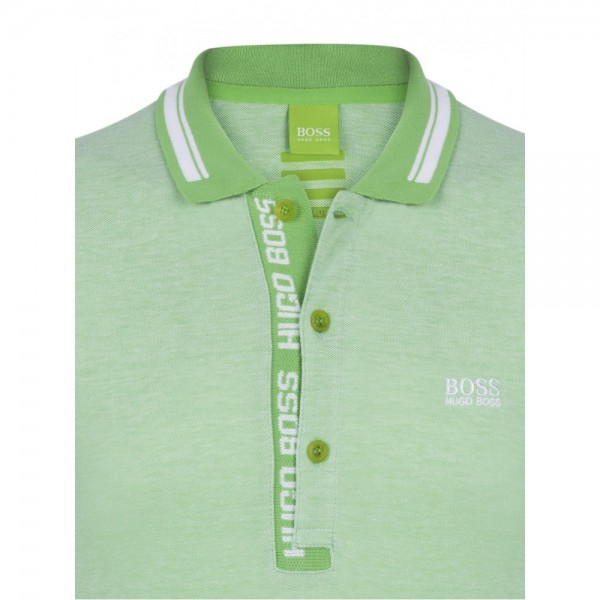 PACK 10 HUGO BOSS GREEN Label Poloshirt Paddy - Green/White 0