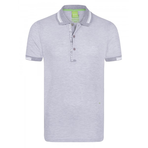PACK 10 HUGO BOSS GREEN Label Poloshirt Paddy - Grey/White 0