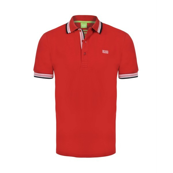 PACK 10 HUGO BOSS GREEN Label Poloshirt Paddy - Red 0