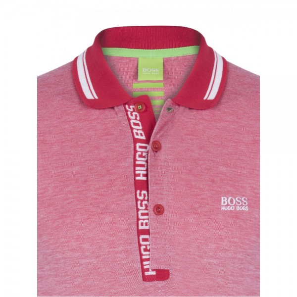 PACK 10 HUGO BOSS GREEN Label Poloshirt Paddy - Red/White 0