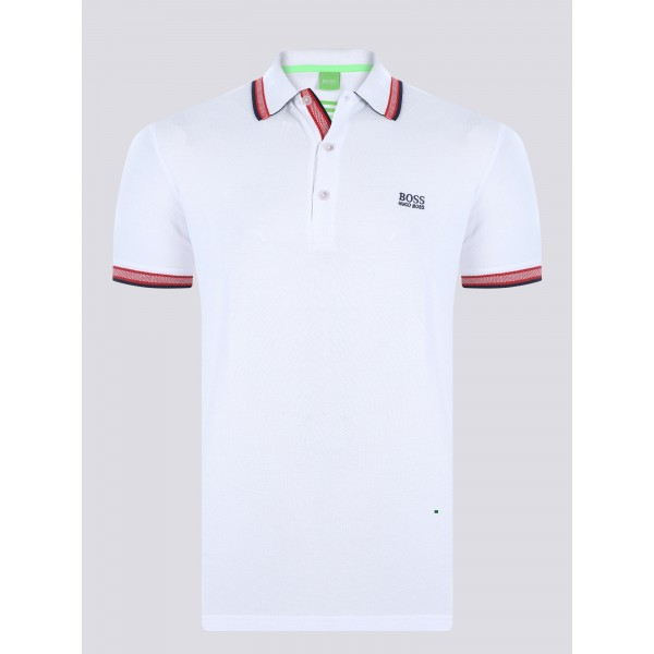 PACK 10 HUGO BOSS GREEN Label Poloshirt Paddy - White_2 0