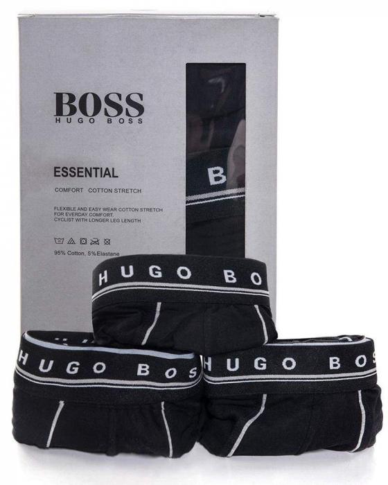 10 PACK HUGO BOSS BOXER, Low Rise Trunks - Black 0