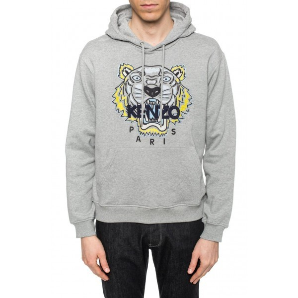 PACK 5 Kenzo Icon Classic Tiger Pullover Hoodie – Gray 0