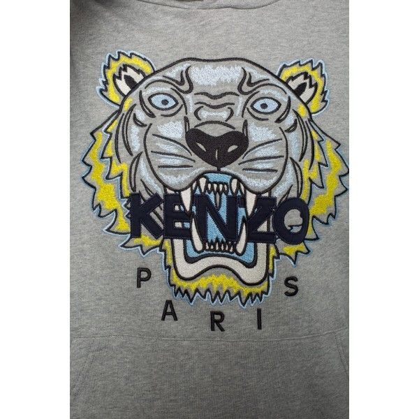 PACK 5 Kenzo Icon Classic Tiger Pullover Hoodie – Gray 2